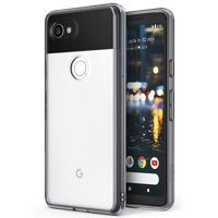 Google Pixel 2 XL Phone Case Ringke [FUSION] Crystal Clear Minimalist Transparent PC Back TPU Bumper [Drop Protection] Scratch Resistant Protective Cover - Clear