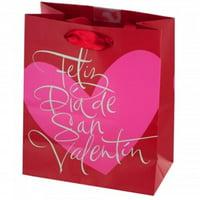 Bulk Buys BH401-72 Feliz Dia De San Valentines Gift Bag - 72 Piece