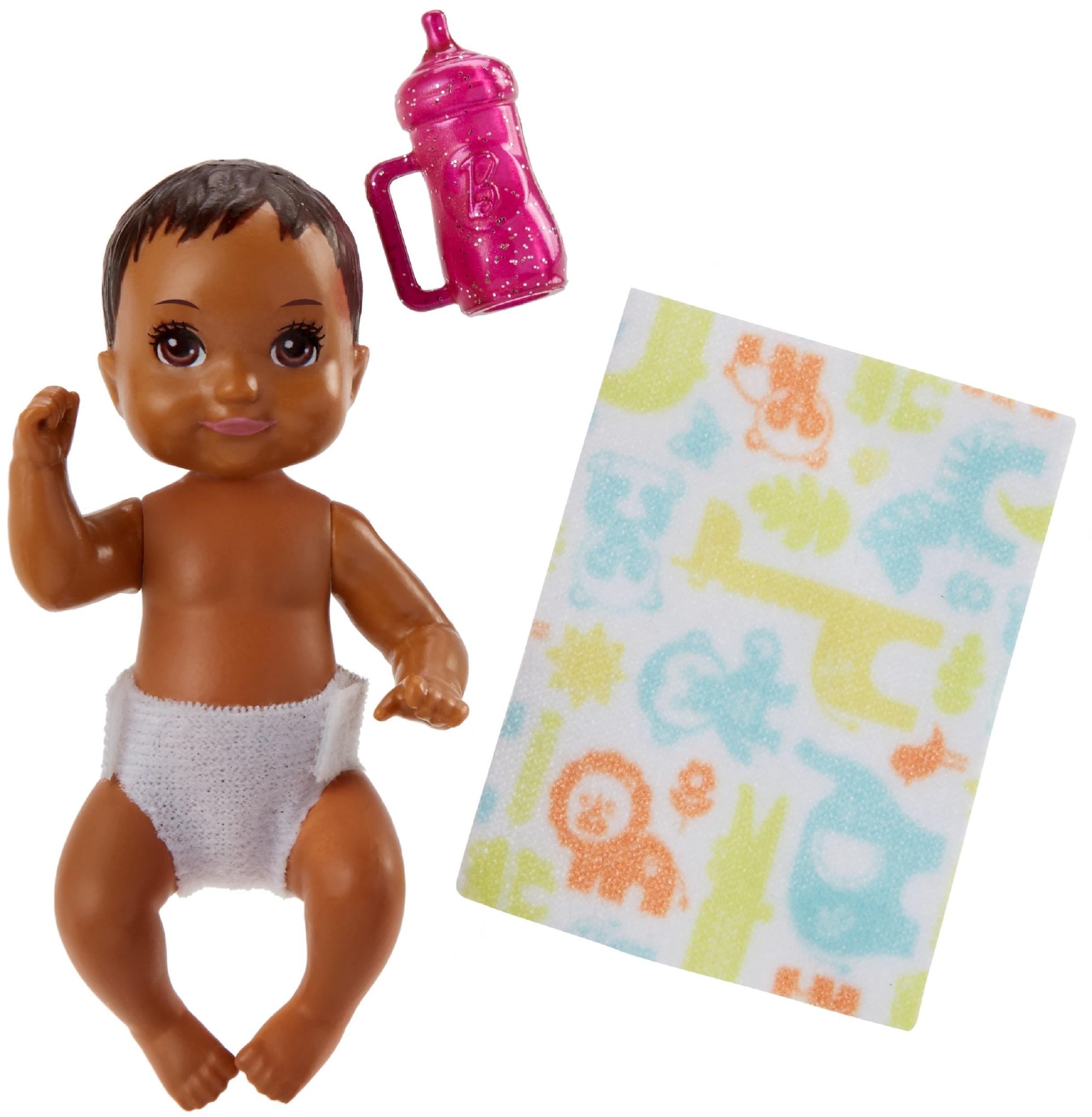 Barbie Babysitters Inc. Baby Doll with Pink Bottle & Accessories