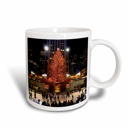 - 3dRose Christmas lights at Rockefeller Center in New York, Ceramic Mug, 15-ounce