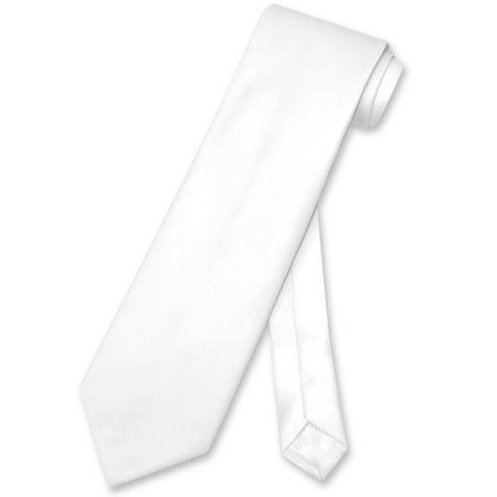 Vesuvio Napoli NeckTie Solid WHITE Color Men's Neck - Express Ties