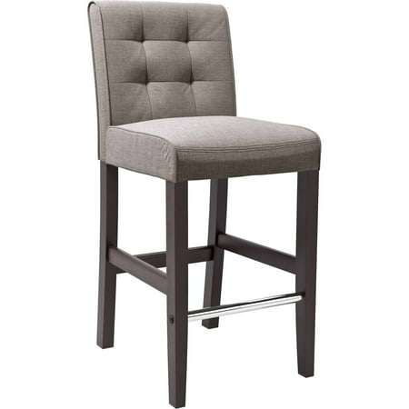 Logo Fabric Bar Stool - CorLiving Antonio Grey Tweed Fabric Barstool