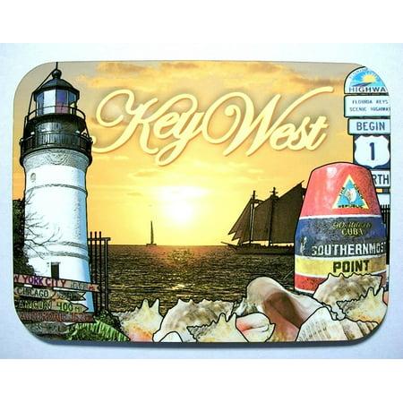 Key West Florida with Lighthouse Photo Fridge Magnet (Key West Halloween Photos)