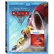 Cars 3 (Walmart Exclusive) (Blu-ray + DVD + Digital HD) by