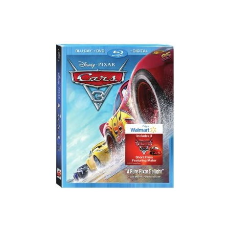 cars 3 walmart exclusive blu ray dvd digital hd. Black Bedroom Furniture Sets. Home Design Ideas