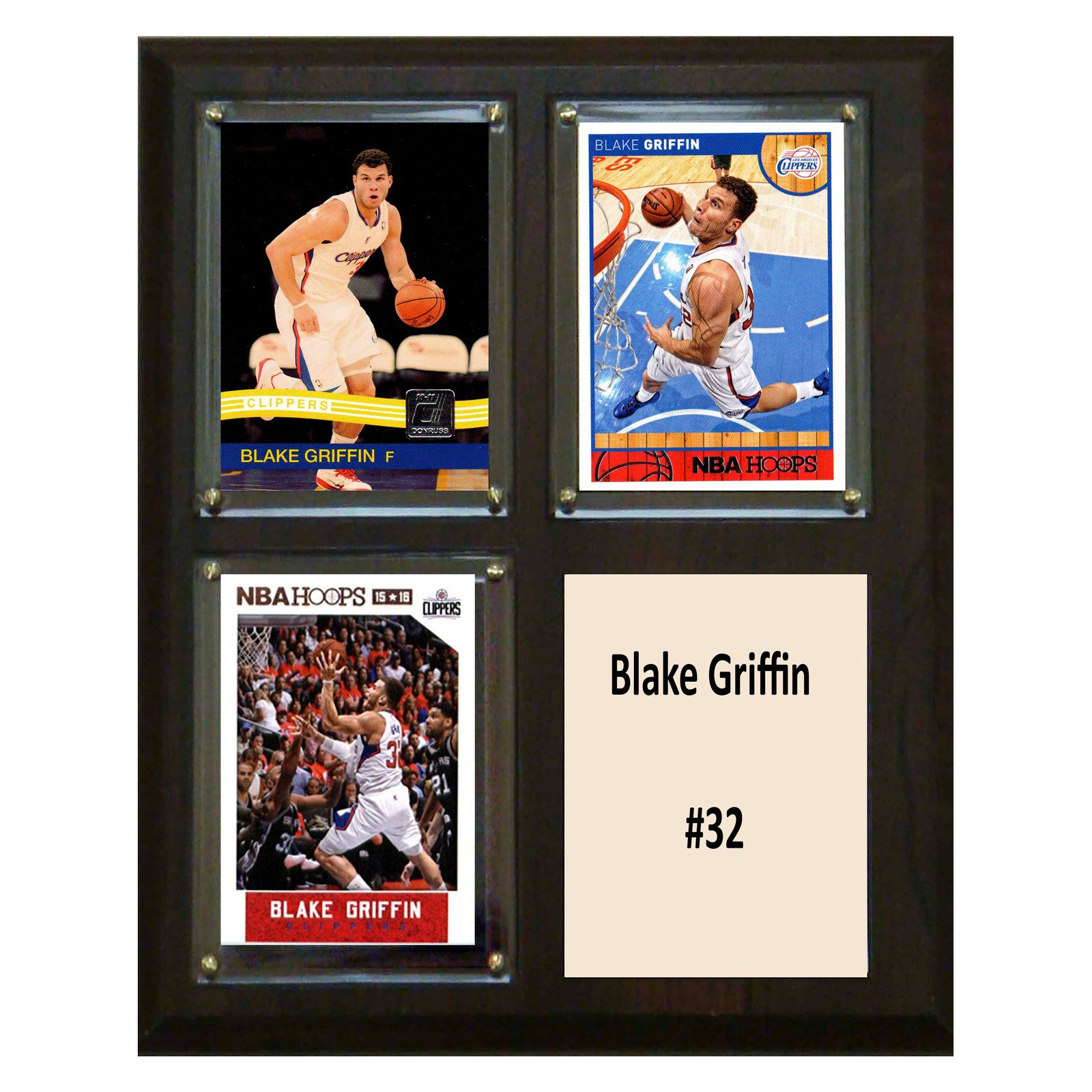 C&I Collectables NBA 8x10 Blake Griffin Los Angeles Clippers 3-Card Plaque