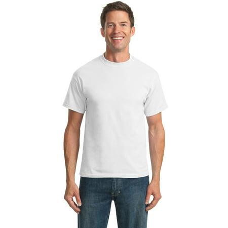 Port Company PC55T Mens Smart T-Shirt - White - Large Tall ()