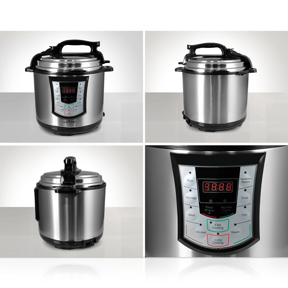Nutrichef Pkprc22 Electronic Pressure Cooker & Slow Cooker