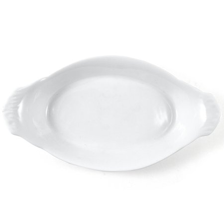 Omniware White Porcelain Au Gratin Dish, 9 Inch ()
