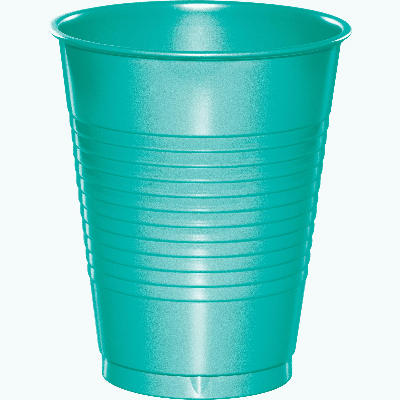 Teal Lagoon 16 Oz. Premium Plastic Cups/Case of 240