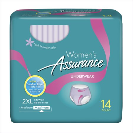 Assurance Incontinence Underwear For Women  Maximum  2Xl  14 Ct