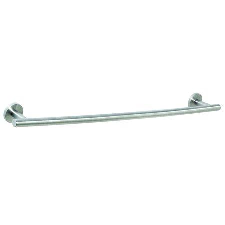 Arrondi 24 in (610 mm) Towel Bar in Stainless Steel Brown Steel Rails