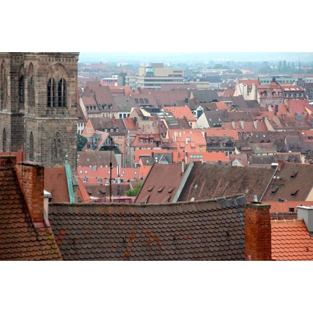 Framed Art for Your Wall Roof City Germany Architecture Dormer Nuremberg  10x13 Frame