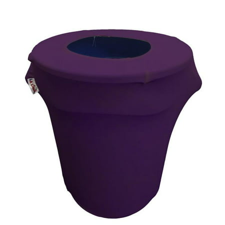 SpandexCover32G-PurpleX23 Stretch Spandex Trash Can Cover 32 gal Round, Purple - image 1 of 1