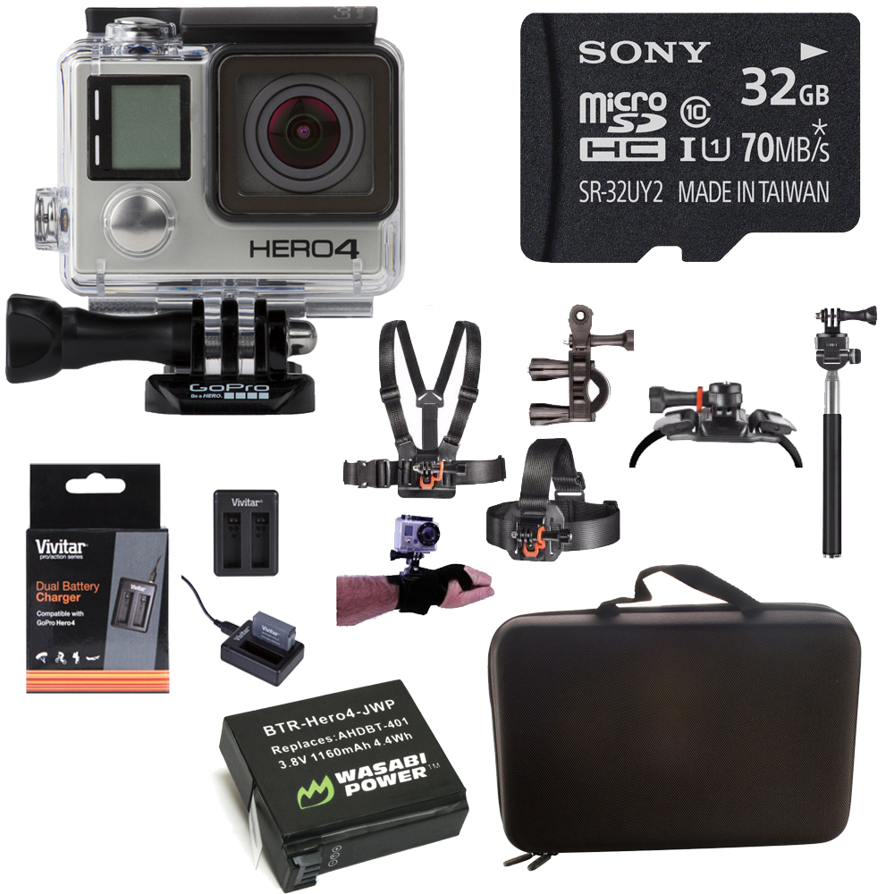 Go Pro Hero 4 Black 4K Camera / Music Edition w/ Outdoor ...
