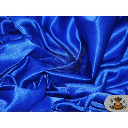 (Satin L'amour Solid Fabric ROYAL BLUE / 60