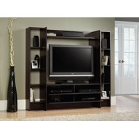 """Sauder Beginnings Entertainment Wall System for TVs up to 42"""", Cinnamon Cherry Finish"""