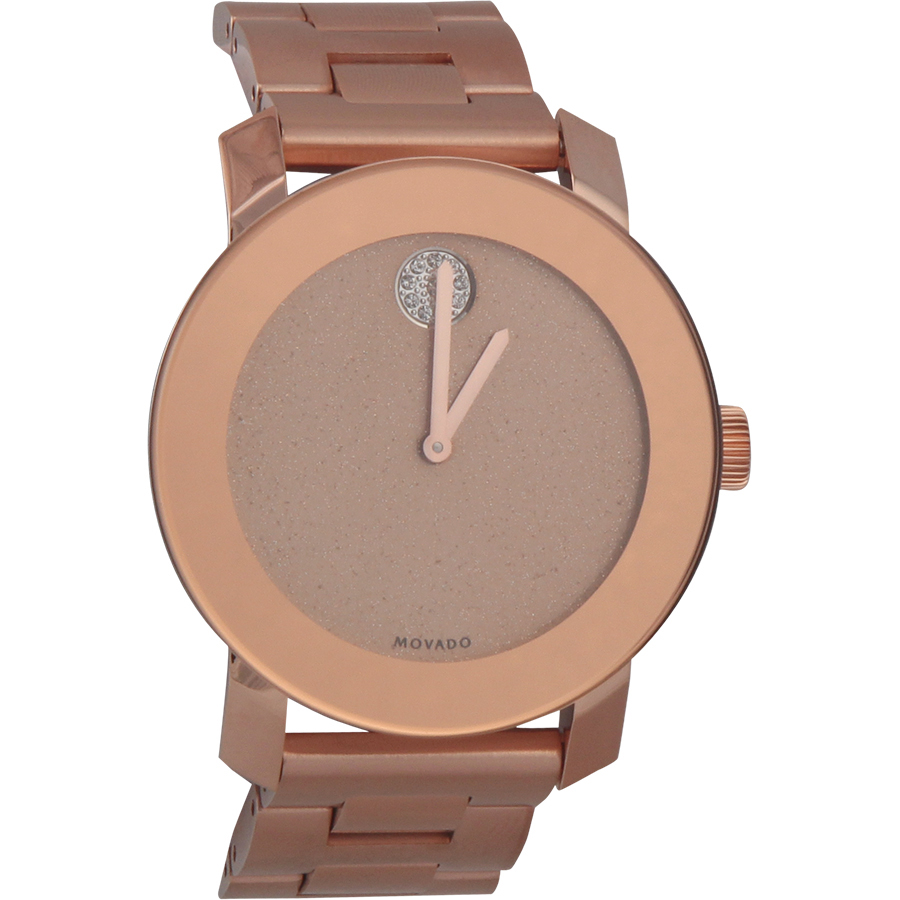 Movado Women's 3600335 Crystal-Accented Rose Gold-Tone Stainless Steel Watch