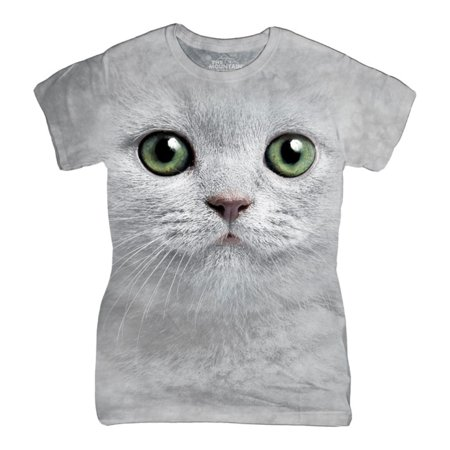 The Mountain White Cotton Green Eyes Face Design Novelty Womens T Shirt New
