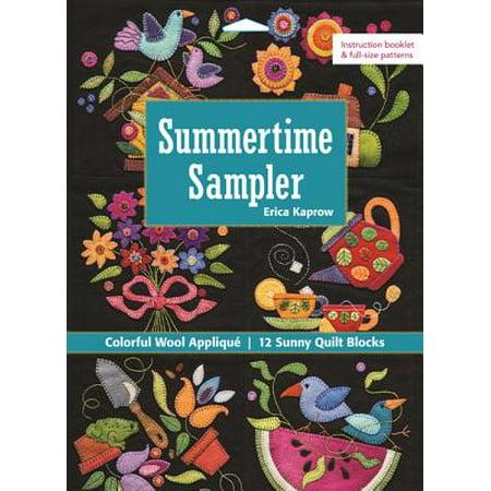 Summertime Sampler : Colorful Wool Applique - Sunny Quilt -