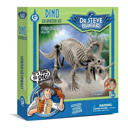 Dino Styracosaurus Skeleton Excavation Kit, The Stegosaurus is waiting to be released from the cretaceous rock block that holds him captive By - Dino Excavation Kit