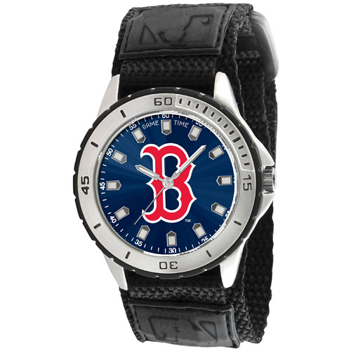 Game Time MLB Men's Boston Red Sox Veteran Series Watch, Black
