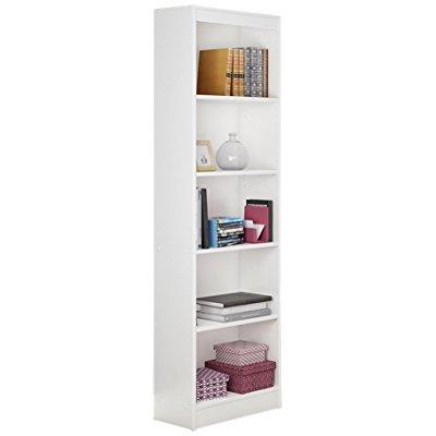 Great ... South Shore Jazz 5 Tier Open Narrow Bookcase, 72 Inch, White