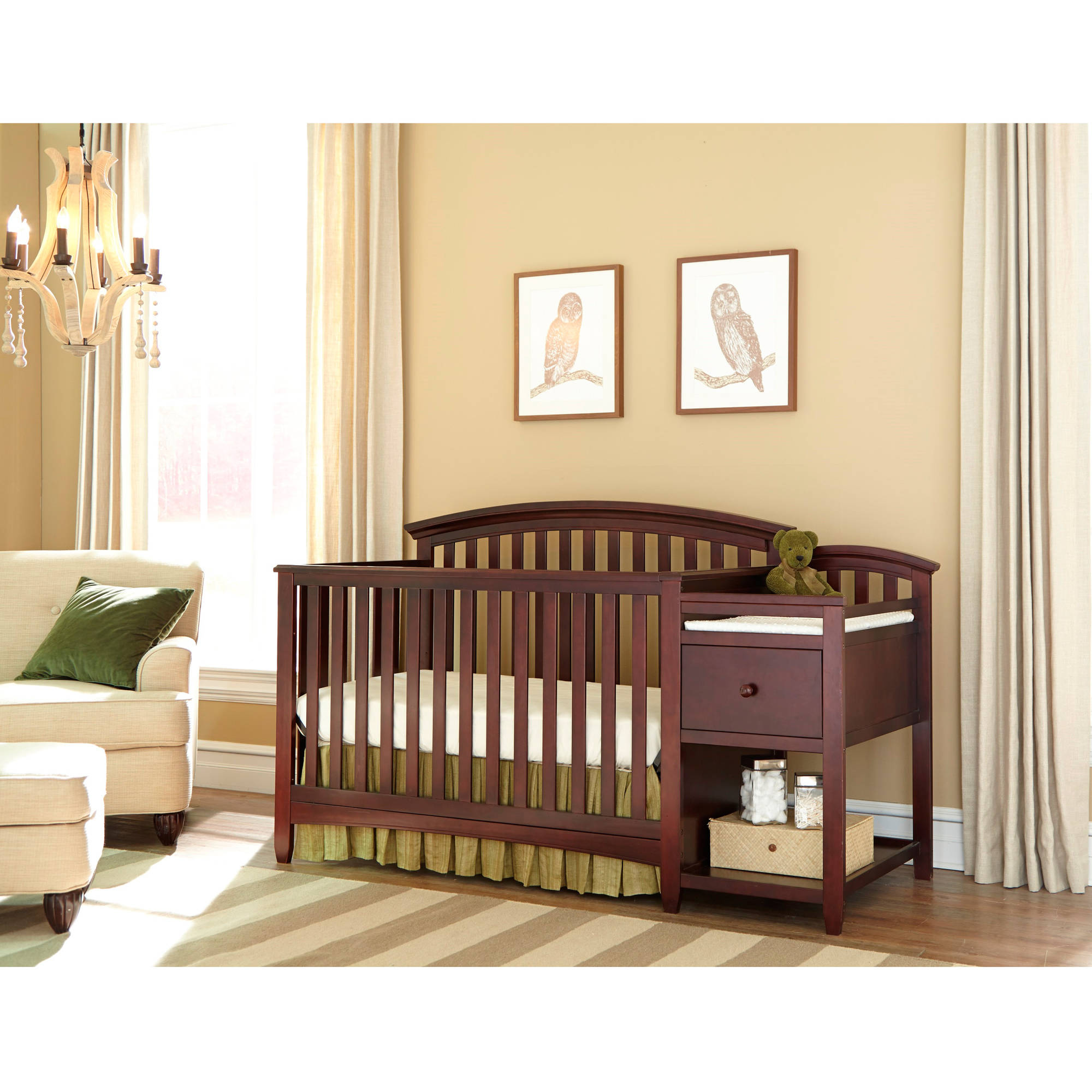 All In One Crib Crib Changer Combos Walmartcom