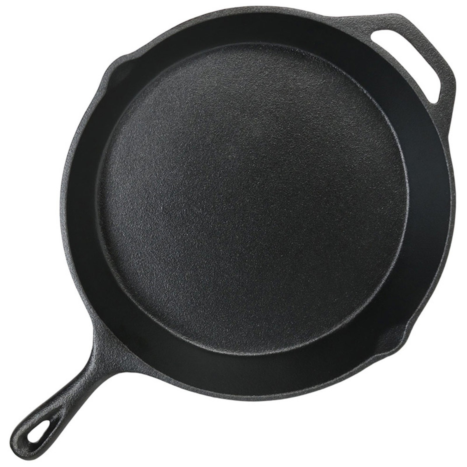 Sunnydaze Decor 12-in. Pre-Seasoned Cast Iron Skillet Fry Pan