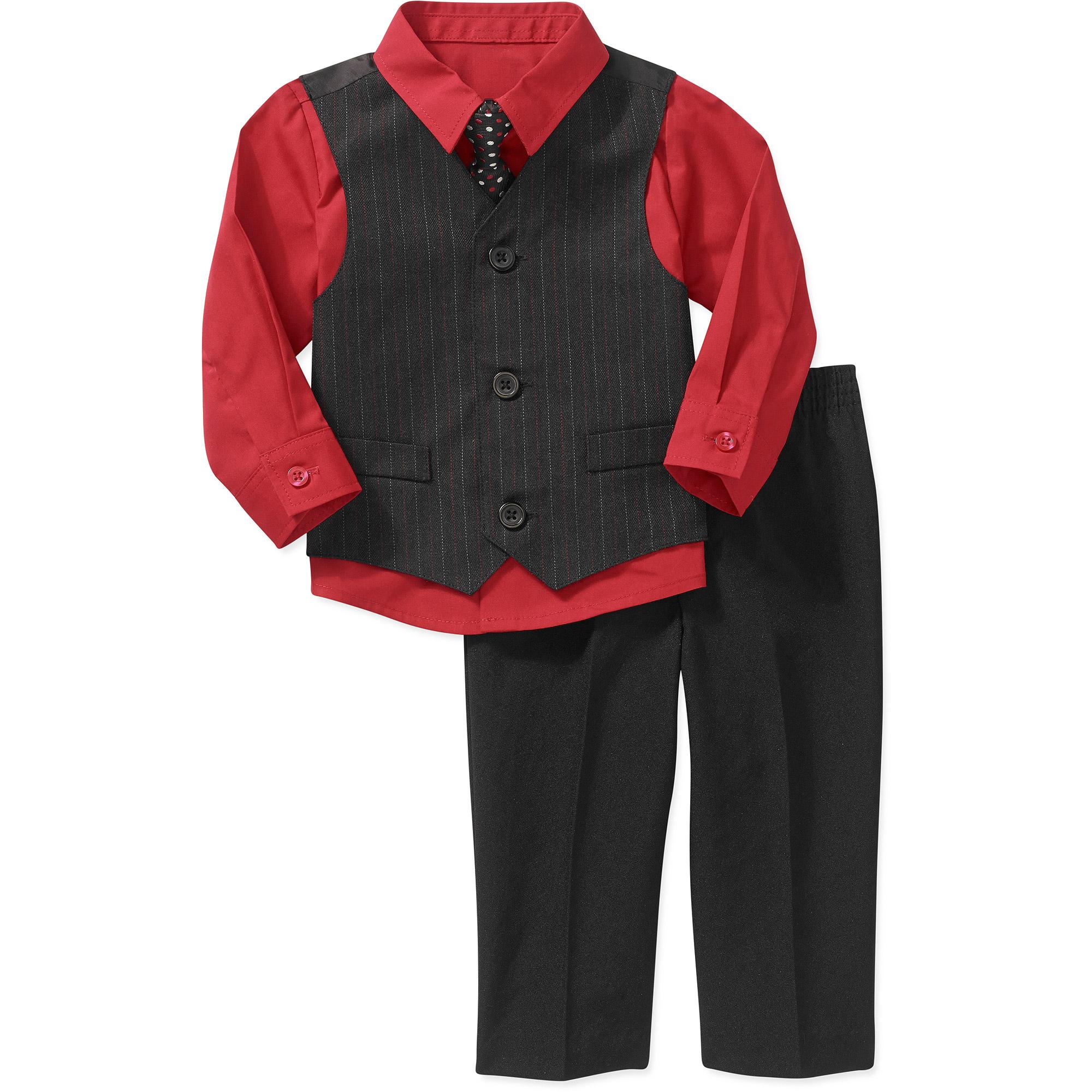 George Newborn Boy 4-Piece Dressy Vest Set