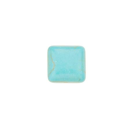 26pcs 12x12mm Rounded Square Imitation Turquoise Cabochon