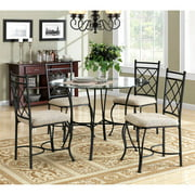 Mainstays 5 Piece Glass Top Metal Dining Set Walmartcom