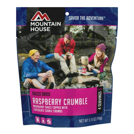 Mountain House Freeze Dried Raspberry Crumble, 5.15 OZ