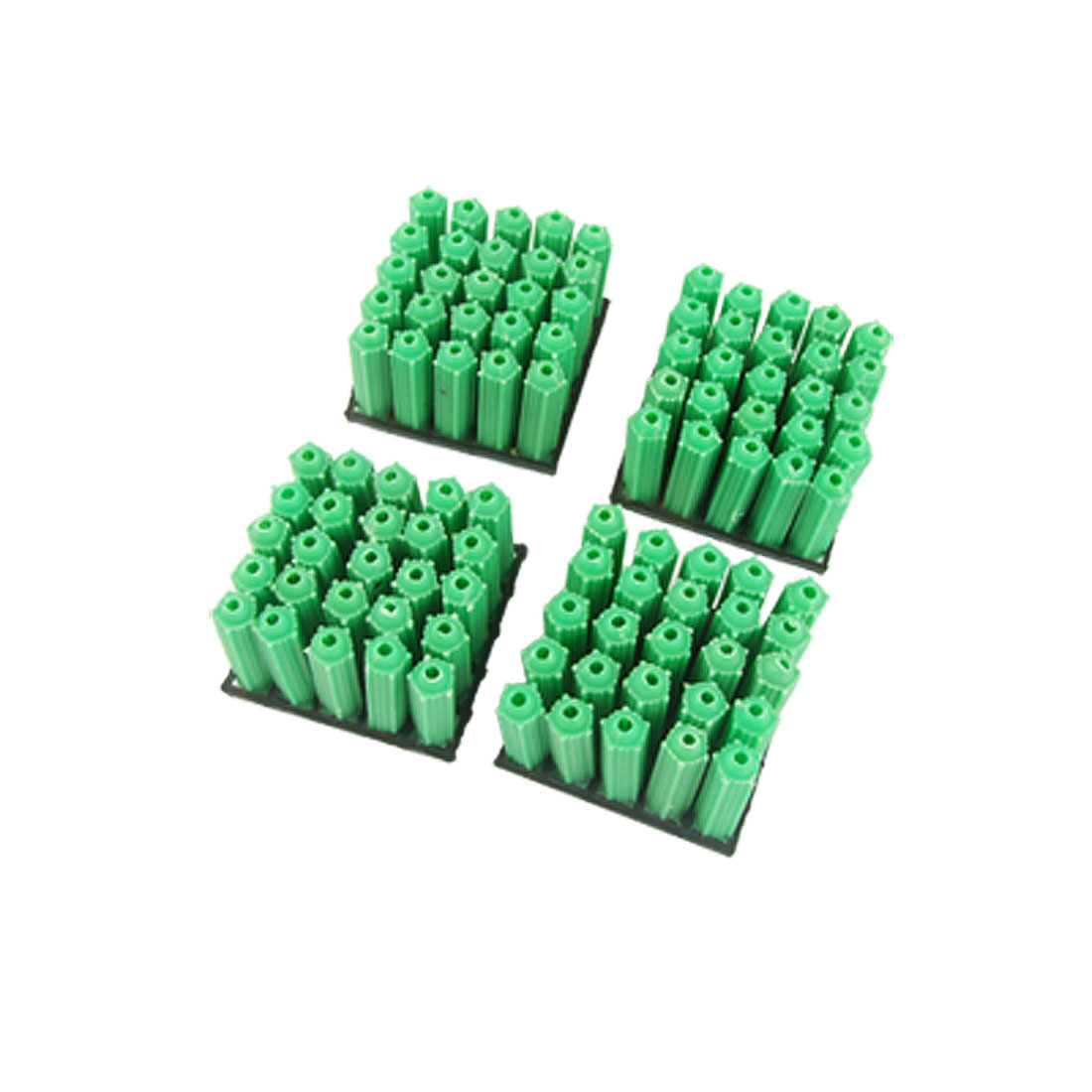 Unique Bargains 6mm Green Nonslip Masnory Plastic Wall Plug 100 Pcs