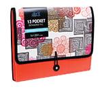 DocIt 7 Pocket Expanding File Folder Modern Morocco Orange