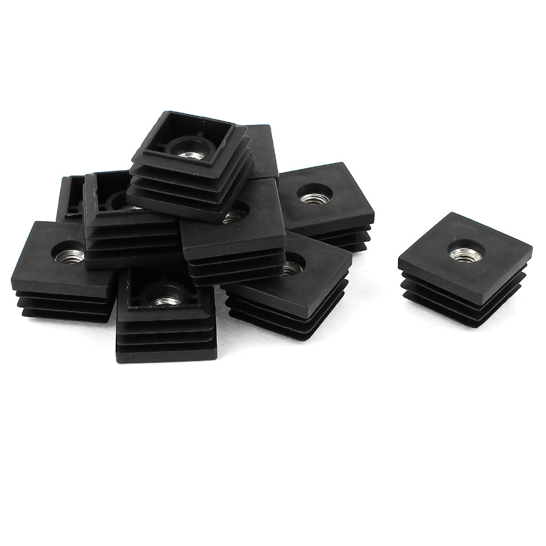 Unique Bargains 12 Pieces Black 7mm Dia Thread Blanking End Cap Threaded Pipe Insert 30mm x 30mm
