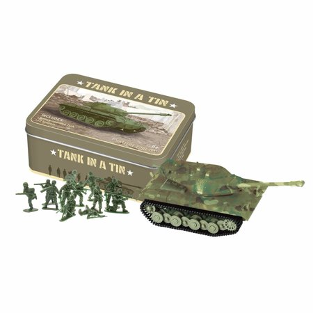Children's Mini Electric Toy Tank In A Vintage-Style Tin Box