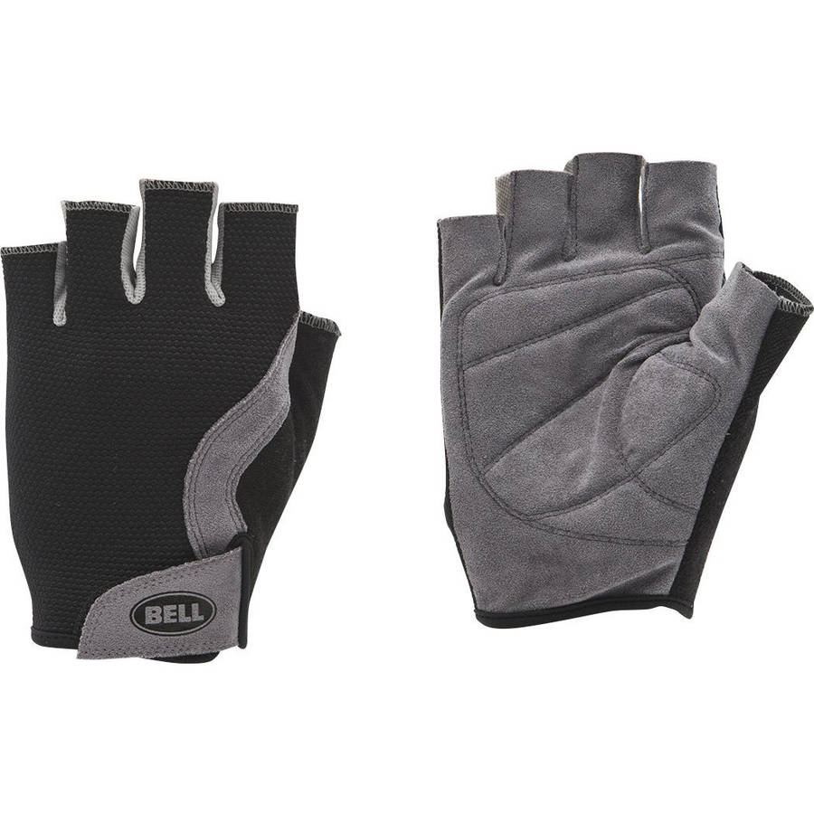 Bell Sports Breeze 300 Half Finger Mesh Cycling Gloves, Large/Xlarge, Black/Gray