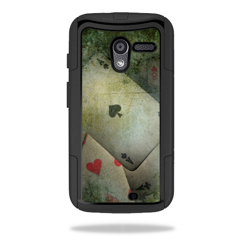 Mightyskins Protective Skin Decal Cover for OtterBox Commuter Motorola Moto X Case wrap sticker skins Aces