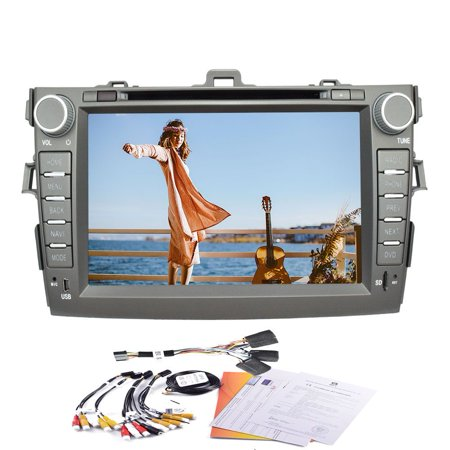 8  Android Quad Core 4 4 Built In Gps Navigation Bluetooth Car Dvd Player Support Wifi Mirror Link Car Stereo Special For Toyota Carola  2007 2011  Models