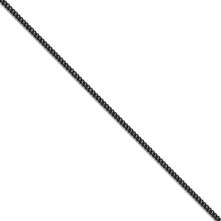 Stainless Steel Polished Black IP-plated 2.25mm Round Curb Chain 24in - image 1 de 3