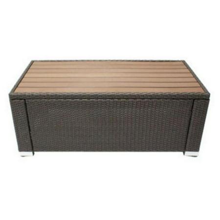 JJ Designs South Beach Rectangular Plywood Top Coffee