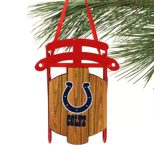 Indianapolis Colts Sled Ornament - No Size