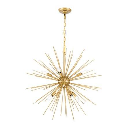 Brass 30' Accent Light - Elegant Lighting LD5039D30 Timber 8 Light 30