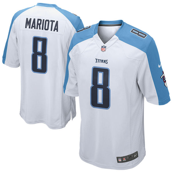 Youth Tennessee Titans Marcus Mariota Nike White Game Jersey