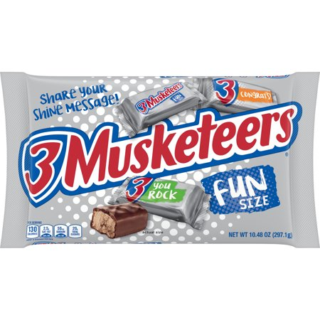 3 Musketeers, Fun Size Chocolate Candy Bars, 10.48 Oz