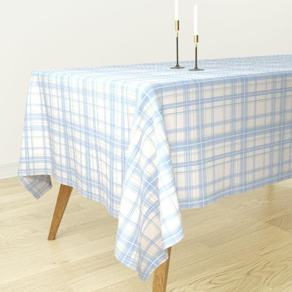 Tablecloth Tartan Plaid Swedish Blue And White Picnic