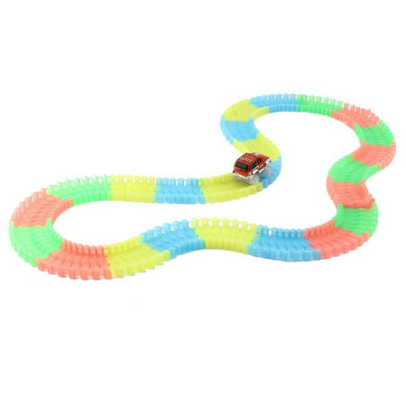 DIY 165 Pieces Of Tracks Glow In The Dark LED Light Up Race Car Bend Flex - Diy Led Glow Stick