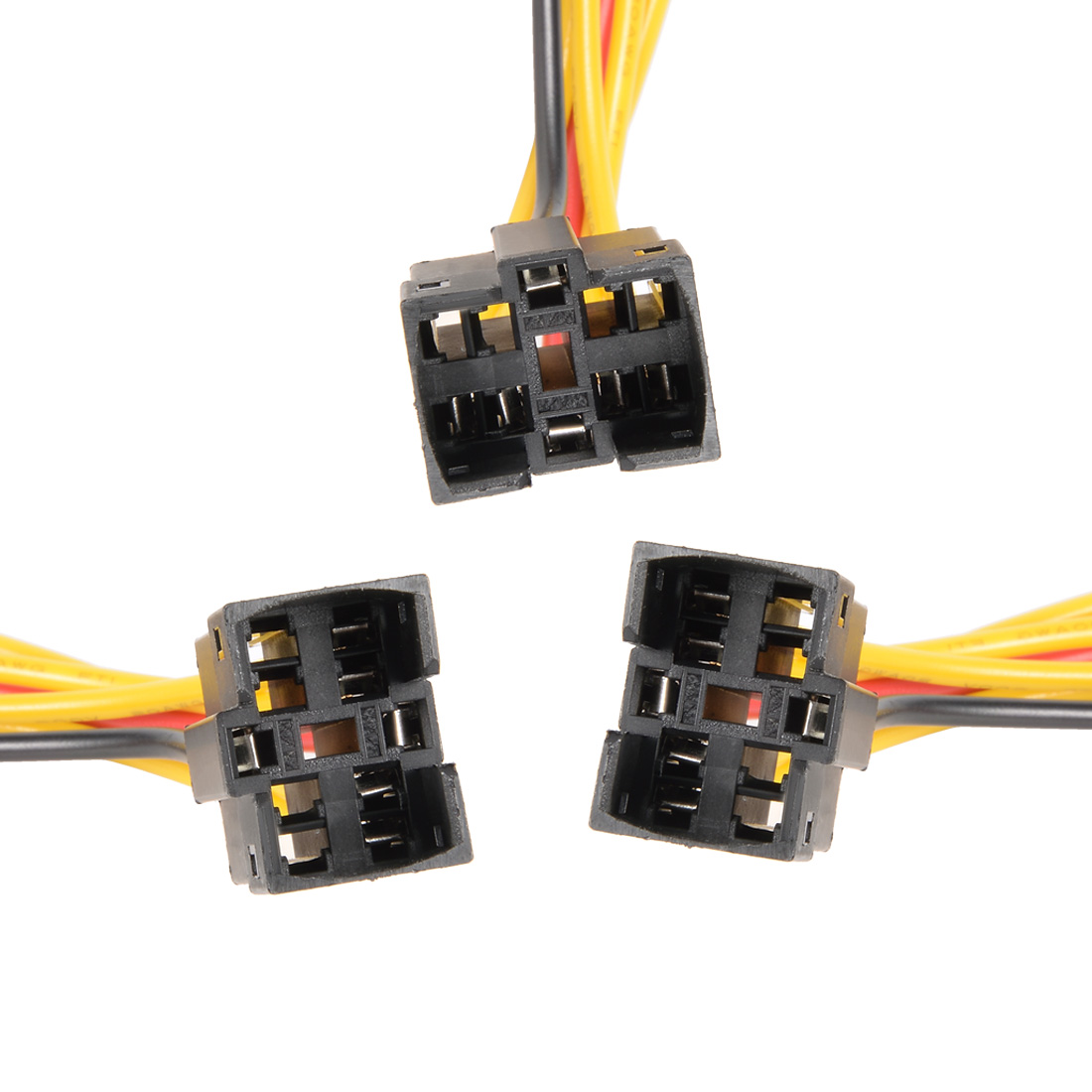 Unique Bargains 3 Pcs J25-C-20 20cm Long 5-cable Wired Connector Adapter for Push Button Switch