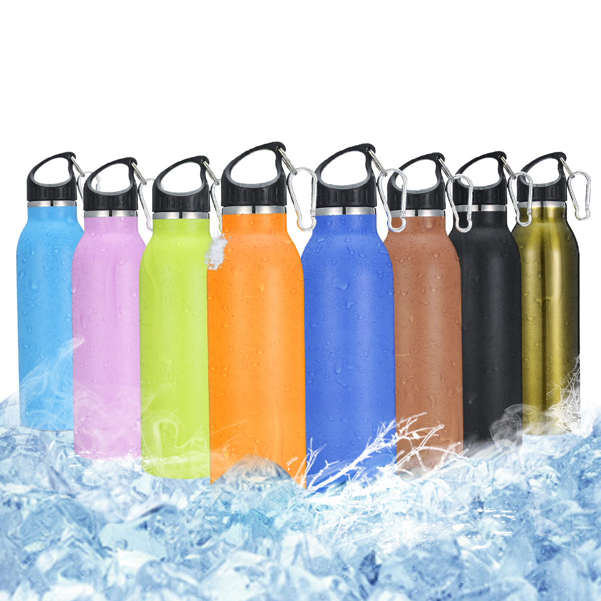 KING DO WAY Vacuum Stainless Steel Water Bottle with 8 Colors Available Simple Shape for Work, Outdoor Transport, Travel Use